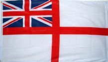 BRITISH WHITE ENSIGN - 8 X 5 FLAG
